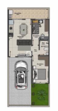 <strong>Casas no Residencial Ibirapuera com 2 quartos</strong>