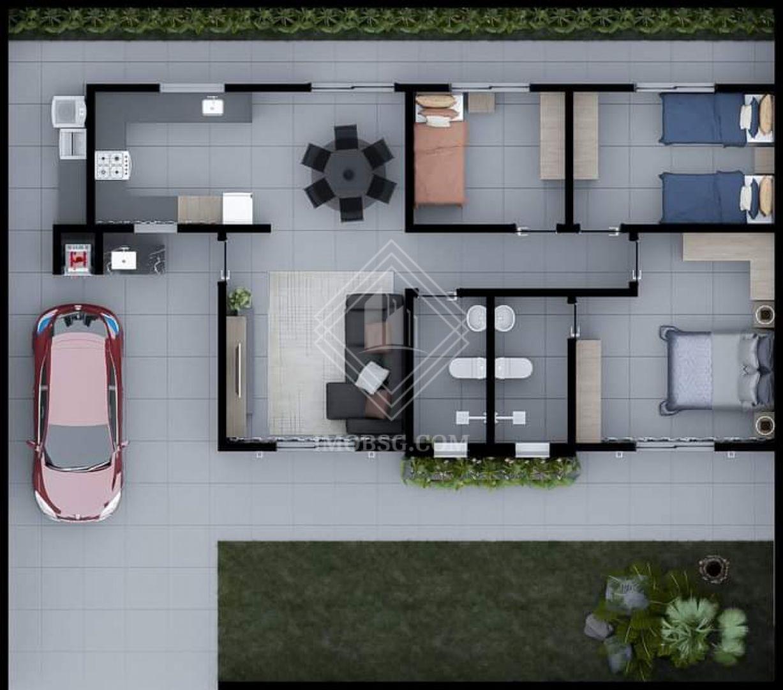 <strong>Casa 3 quartos 1 suite Enorme sobra de terreno</strong>