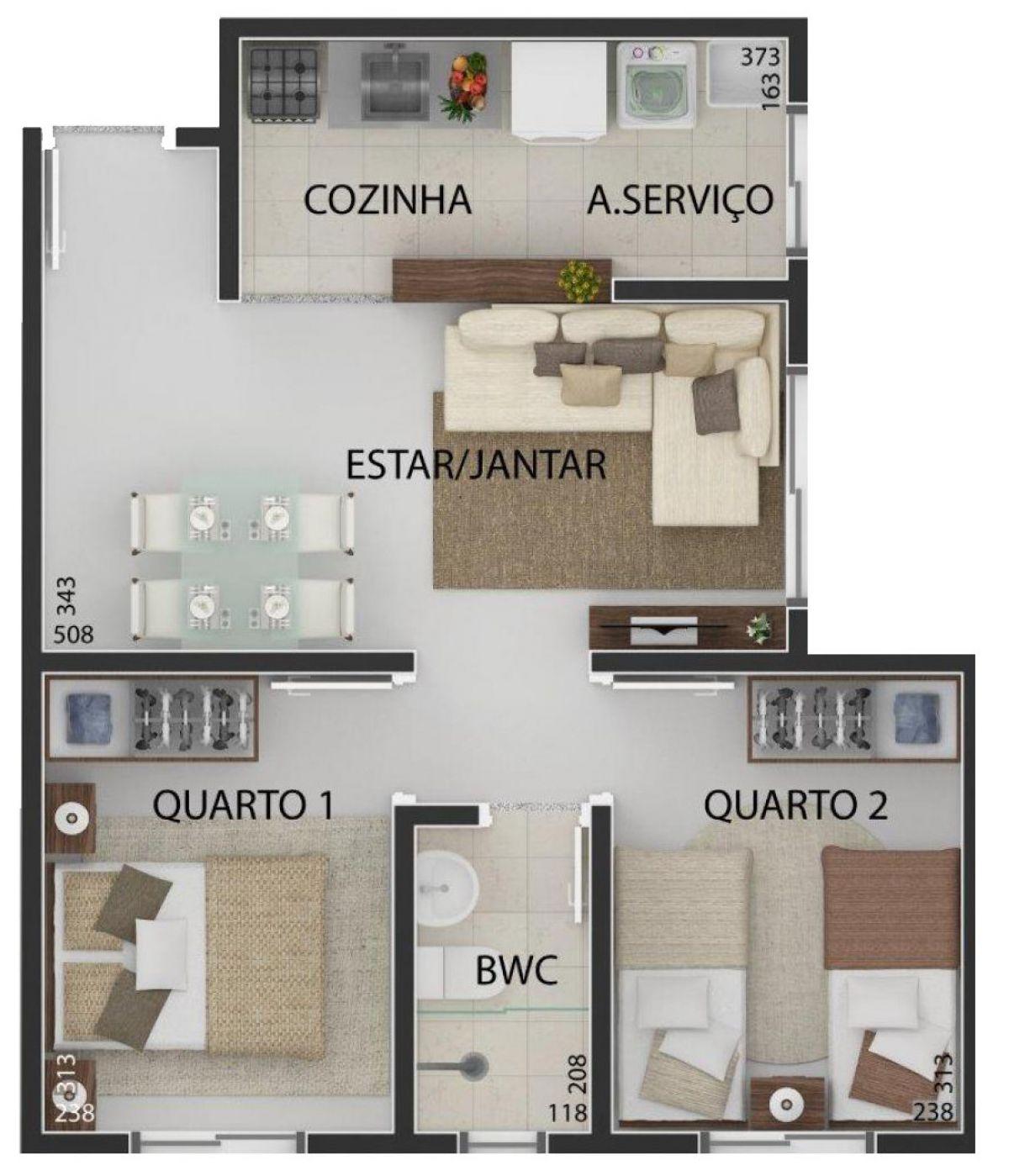 PLANTA 01: (45,02 m²)