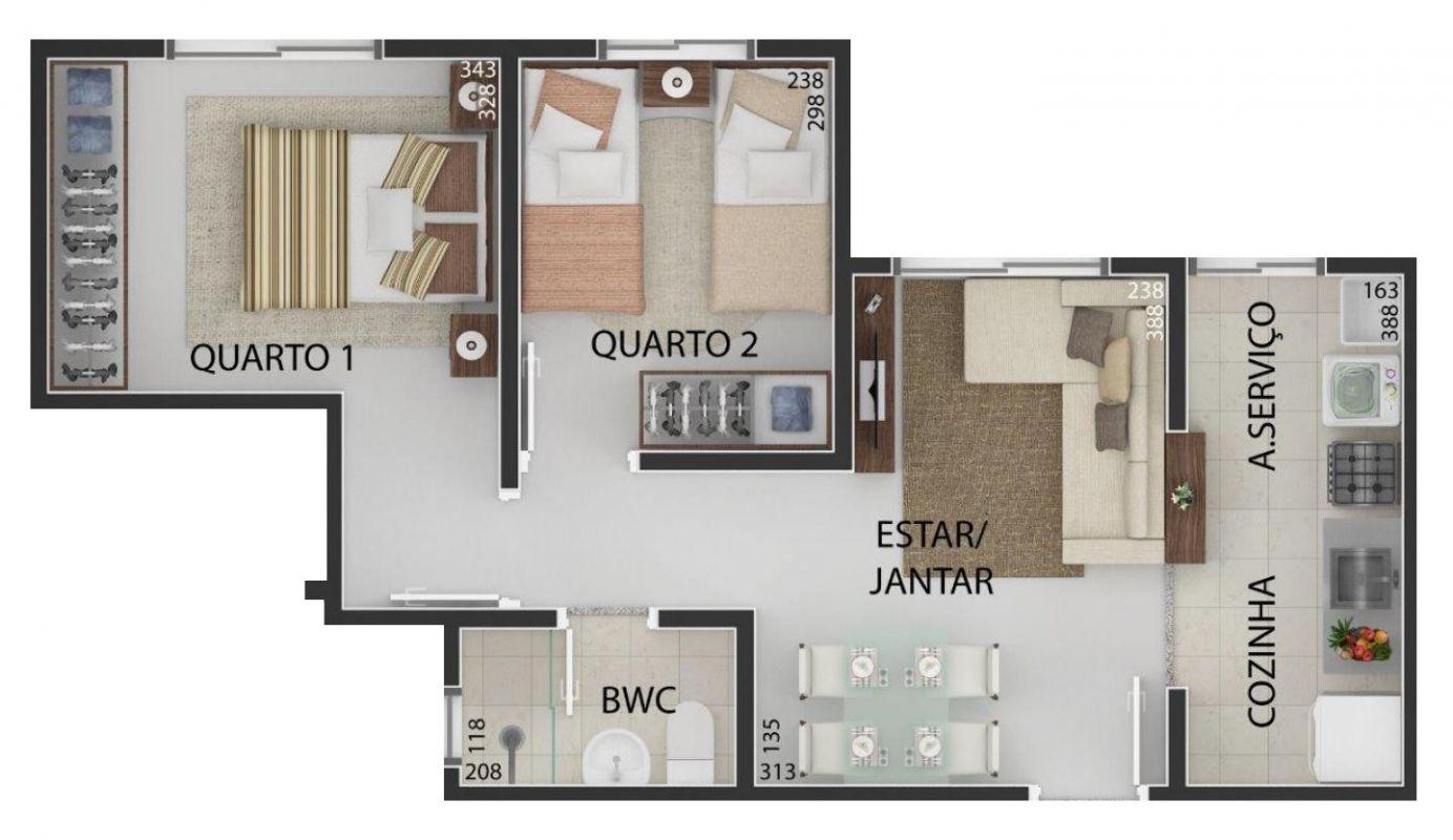 PLANTA 02: (47,24 m²)